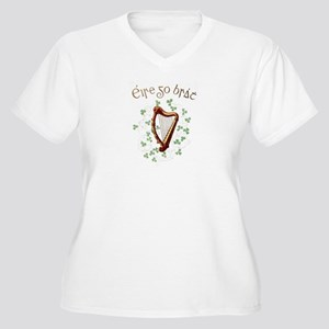 Irish Gaelic Erin Go Bragh Harp Plus Size T-Shirt