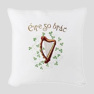 Irish Gaelic Erin Go Bragh Har Woven Throw Pillow