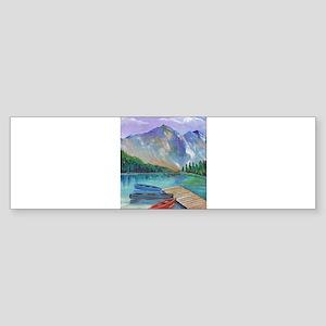 Lake Boat Bumper Sticker