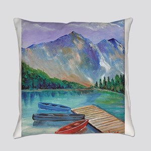 Lake Boat Everyday Pillow