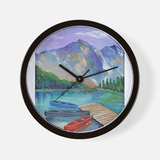 Lake Boat Wall Clock