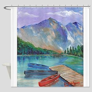 Lake Boat Shower Curtain