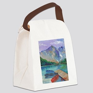 Lake Boat Canvas Lunch Bag