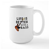 Bass guitar Large Mugs (15 oz)