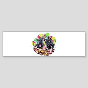 Scottie Birthday Bumper Sticker
