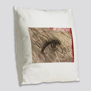 eyeball Burlap Throw Pillow