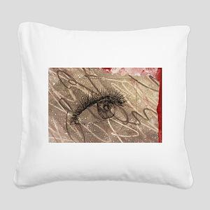 eyeball Square Canvas Pillow
