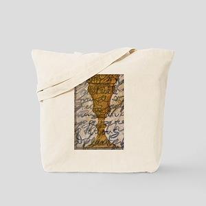 vase gold brown writing graffiti Tote Bag