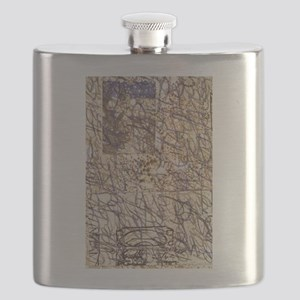 writing brown Flask