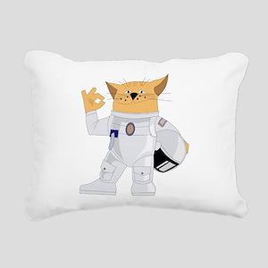 cat space Rectangular Canvas Pillow
