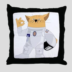 cat space Throw Pillow