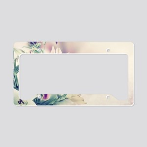 Vintage Flowers License Plate Holder