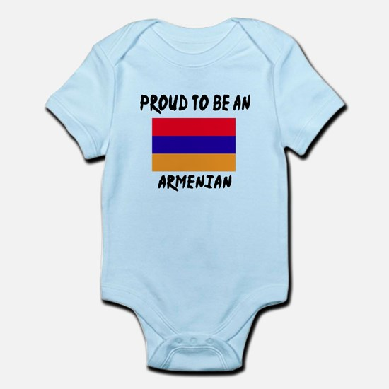 Proud To Be Armenian Baby Light Bodysuit