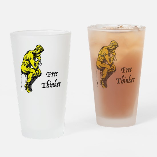 Unique Free thinking Drinking Glass