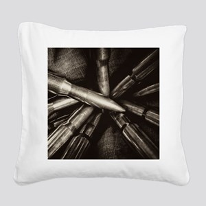 Rifle Ammo Square Canvas Pillow