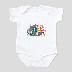 Hot Rod (Flames) 18 Wheeler Truck Infant Bodysuit