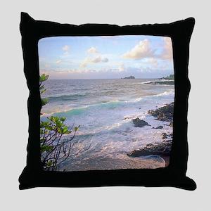 Hana Maui Sunset Throw Pillow