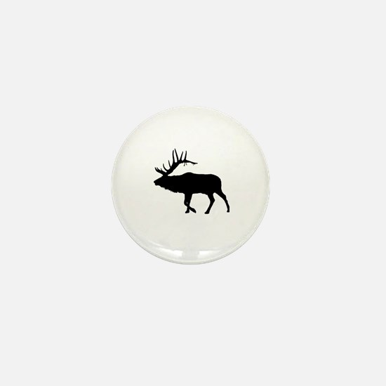 Funny Elk hunting Mini Button