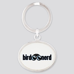 Bird Nerd Oval Keychain