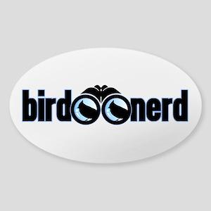 Bird Nerd Sticker (Oval)