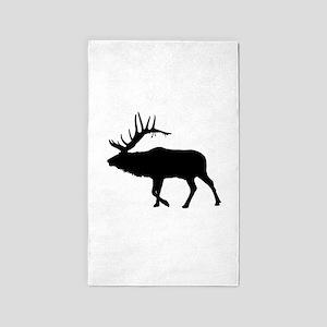 Bull Elk Silhouette Area Rug