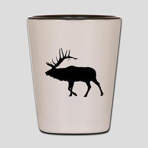 Bull Elk Silhouette Shot Glass