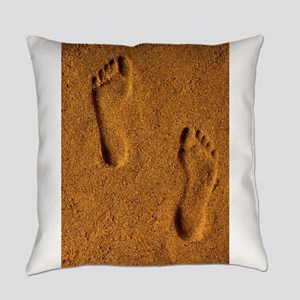 sand footprints, Everyday Pillow