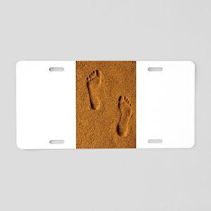 sand footprints, Aluminum License Plate