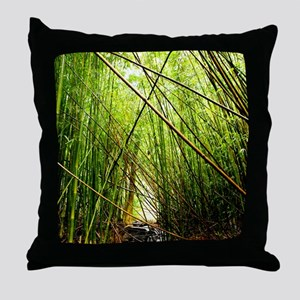 Bamboo Paradise Hawaii Throw Pillow