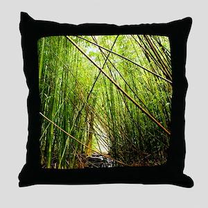 Bamboo Paradise Hawaii Throw Pillow