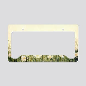 Rustic Daisies License Plate Holder
