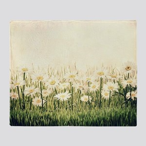 Rustic Daisies Throw Blanket
