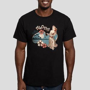 Aloha Hula Girl Men's Fitted T-Shirt (dark)