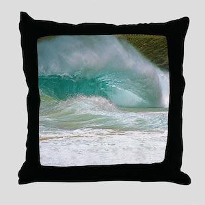 Sandy Beach Shorebreak Throw Pillow