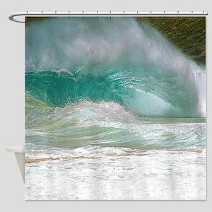 Sandy Beach Shorebreak Shower Curtain