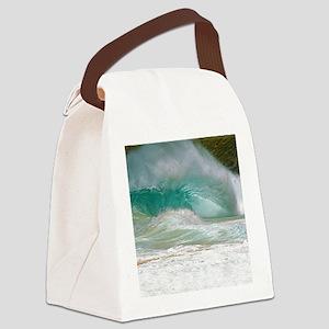 Sandy Beach Shorebreak Canvas Lunch Bag