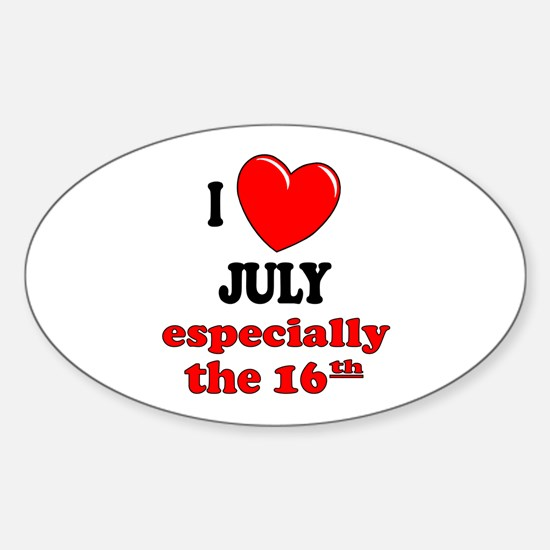 July 16th Oval Decal