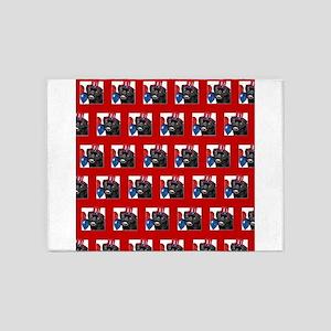 Patriotic pug dog 5'x7'Area Rug