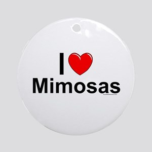 Mimosas Round Ornament