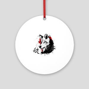 Wolf Okami Round Ornament