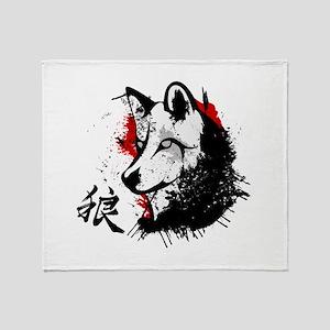 Wolf Okami Throw Blanket