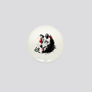 Wolf Okami Mini Button