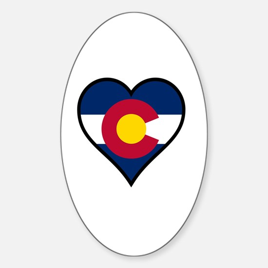 Cute State of colorado Sticker (Oval)