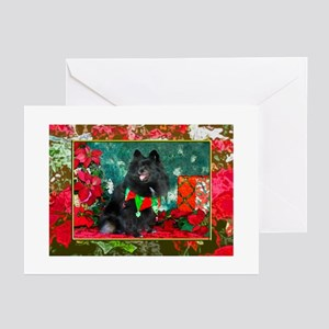 Pomeranian Christmas Diva Greeting Cards (Package
