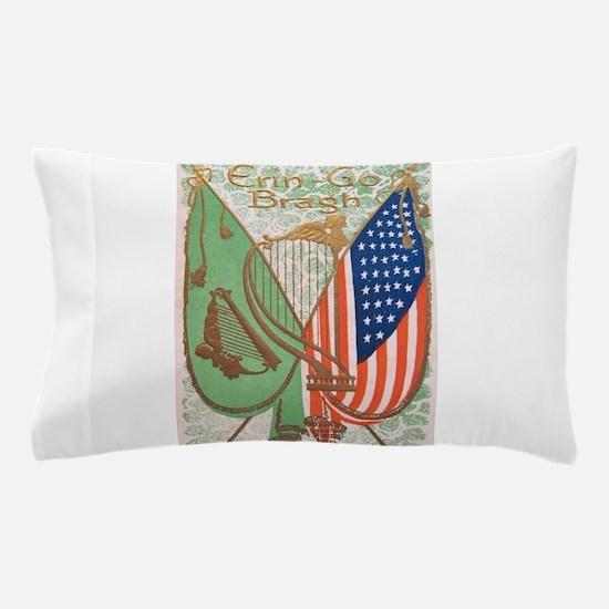 Irish American Flags Erin Go Bragh Pillow Case