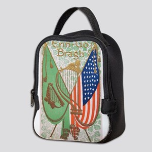 Irish American Flags Erin Go Br Neoprene Lunch Bag