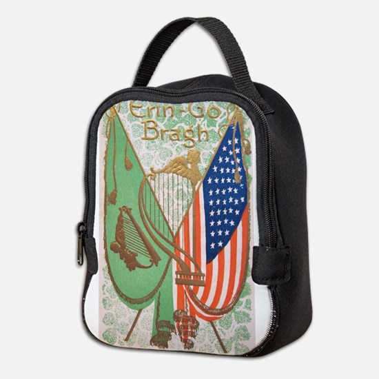 Irish American Flags Erin Go Br Neoprene Lunch Bag