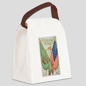 Irish American Flags Erin Go Brag Canvas Lunch Bag