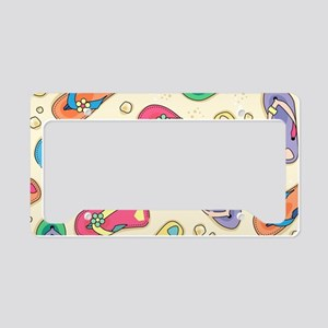 Colorful Flip Flops License Plate Holder