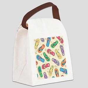 Colorful Flip Flops Canvas Lunch Bag